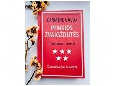 """Knygos apžvalga. Carmine Gallo """"Penkios žvaigždutės. Įtikinimo meistrystė. Komunikacijos paslaptys"""""""