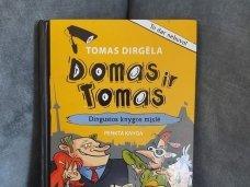 """Knygos apžvalga (Mama ir vaikas skaito).Tomas Dirgėla """"Domas ir Tomas. Dingusios knygos mįslė"""""""