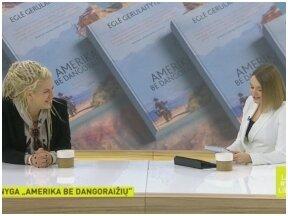 """Pokalbis su Egle Gerulaityte, knygos """"Amerika be dangoraižių"""" autore, laidoje """"Labas rytas, Lietuva"""""""