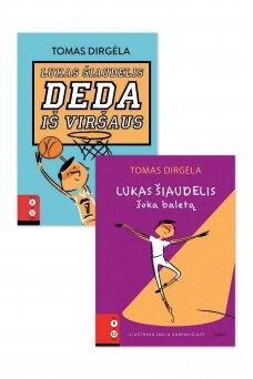 """KNYGŲ KOMPLEKTAS. """"Lukas Šiaudelis deda iš viršaus"""" + """"Lukas Šiaudelis šoka baletą"""""""