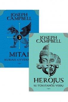 """Knygų komplektas! """"Mitai, kurias gyvename"""" + """"Herojus su tūkstančiu veidų"""""""