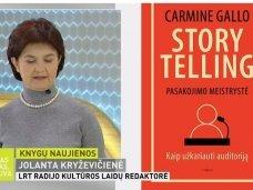 """Knygų apžvalga (Jolanta Kryževičienė). Carmine Gallo """"Storytelling"""""""