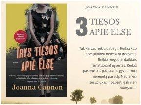 """Knygos apžvalga (Perskaitytų knygų dienoraštis). Joanna Cannon """"Trys tiesos apie Elsę"""""""